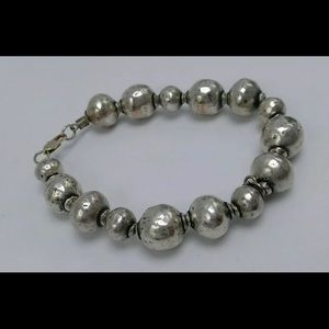 Silpada Atmospheric Ball Bead Hammered Bracelet